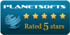5 Stars award on Planetsofts